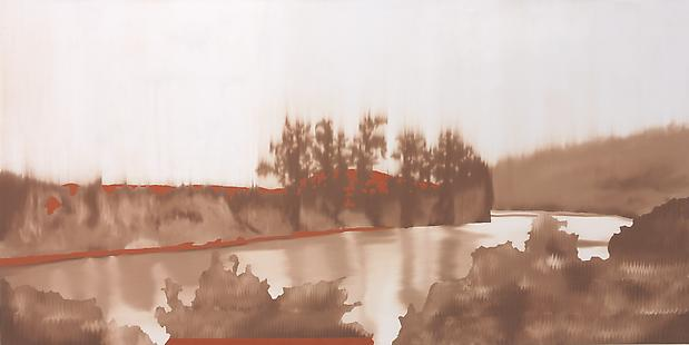 Douglas C. Bloom Looking North, 2007 Oil on canvas 36 x 72 inches Image