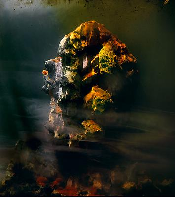Kim Keever Eroded Head 88g, 2010 edition of 10 + 1 AP c-print 27 x 24 inches Image