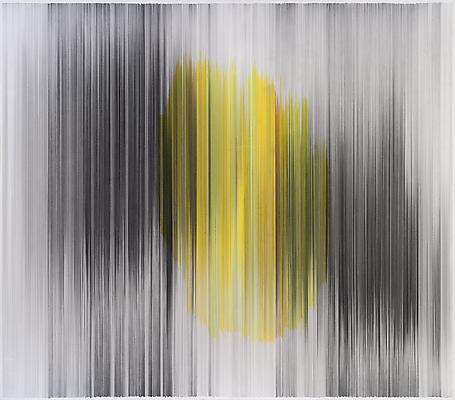 parallel 25 yellow, 2011 Graphite and colored pencil on cotton mat board 58 x 51 inches  Photo by EG Schempf Image