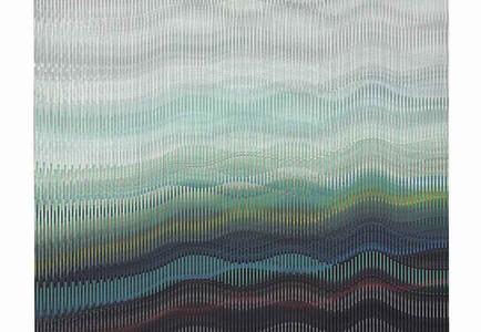 Abraham Palatnik, W-383, 2012 Acrylic on wood, 44 3/8 x 53 1/8 in.