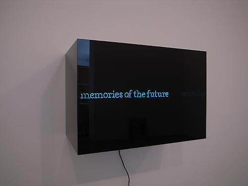 LAURENT GRASSO memories of the future, 2010 neon, Plexiglas box  neon: 1 1/2 x 19 5/8 inches (4 x 50 cm) box: 19 5/8 x 16 1/2 x 29 inches (50 x 42 x 74 cm) LG-44
