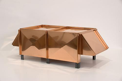 RITA McBRIDE White Elephant (mini), 2005 copper and steel 7 1/2 x 22 7/8 x 9 7/8 inches (19 x 58 x 25 cm) edition of 5 (#4/5) RMC-154.4