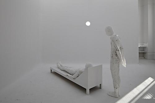 TERENCE KOH one person at a time, 2012 wax, foam dimensions variable Photo by: Matthu Placek