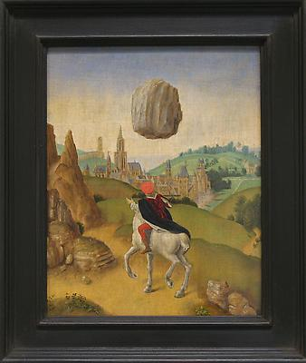 LAURENT GRASSO Studies into the Past - Psychokinesis, 2010 oil on panel paper: 11 1/2 x 9 1/4 inches (29.2 x 23.5 cm) framed: 15 1/2 x 13 1/8 inches (39.4 x 33.3 cm) LG-39