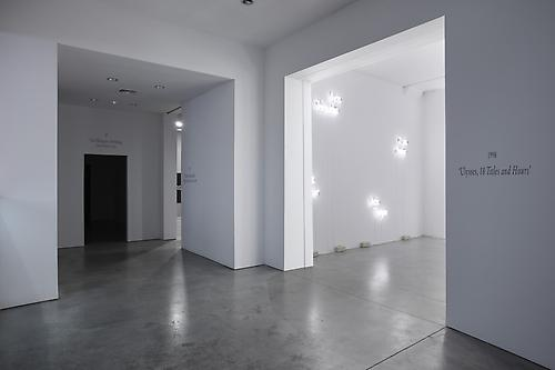 Installation view of  Joseph Kosuth 'Texts (Waiting for-) for Nothing'  Samuel Beckett, in play at Sean Kelly Gallery, New York March 30 - April 30, 2011 All photographs: Jason Wyche, New York