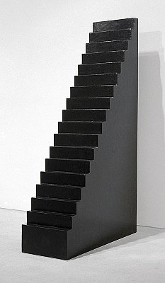 Staircase, 2003 black Burmese lacquer on wood 114 x 72 1/2 x 24 3/8 inches  (290 x 185 x 62 cm) WL-27