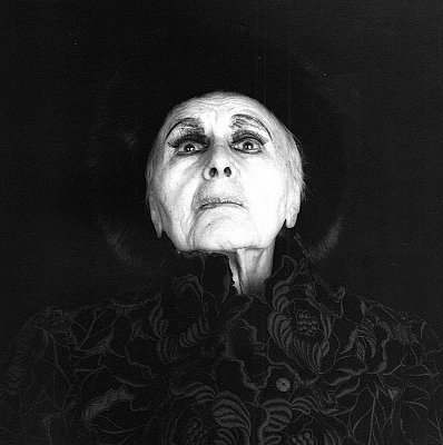 Louise Nevelson, 1986 silver gelatin print image: 19 1/4 x 19 1/4 inches  (48.9 x 48.9 cm) paper: 24 x 20 inches  (61 x 51 cm) edition of 10 with 2 APs MAP-1630