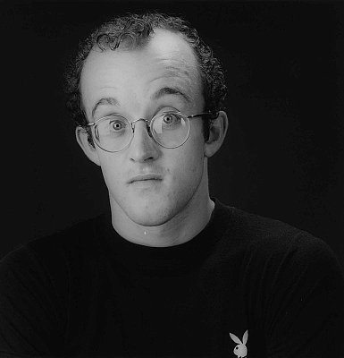 Keith Haring, 1984 gelatin silver print image: 15 1/4 x 15 1/8 inches  (38.7 x 38.4 cm) paper: 20 x 16 inches  (50.8 x 40.6 cm) edition of 10 with 2 APs  MAP-1463