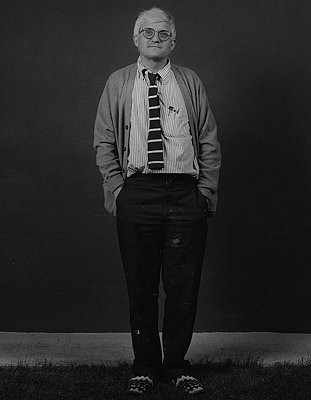 David Hockney, 1984 gelatin silver print image: 19 1/4 x 15 1/8 inches  (48.9 x 38.4 cm) paper: 20 x 16 inches  (50.8 x 40.6 cm) edition of 10 with 2 APs  MAP-1369