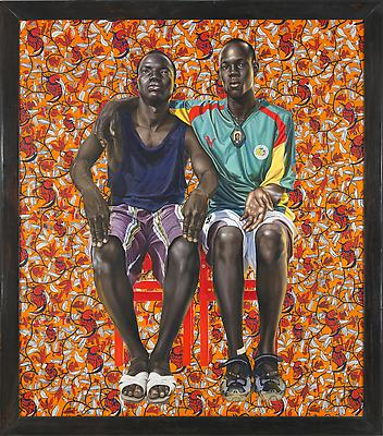Dogon Couple, 2008 oil on canvas 8 x 7 feet Museum purchase, funds provided by the David A. Cofrin Acquisition Endowment and Caroline Julier and James G. Richardson Acquisition Fund Collection of the Harn Museum of Art, Gainesville, Florida