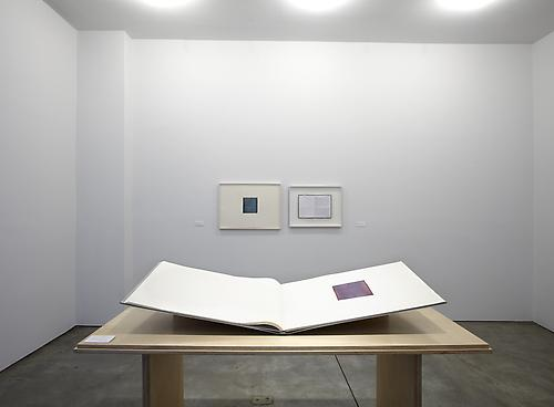 Installation view of  callum innes | colm tóibín water | colour at Sean Kelly Gallery, New York all photographs: Jason Wyche, New York