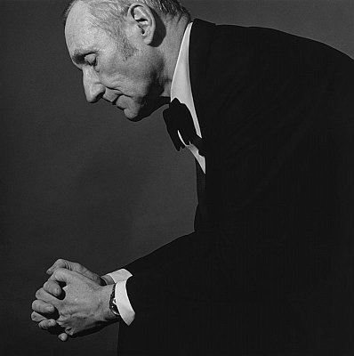 William Burroughs, 1980 gelatin silver print image: 14 x 14 inches  (35.6 x 35.6 cm) paper: 20 x 16 inches  (51x 41 cm) edition of 15 with 3 APs MAP-478