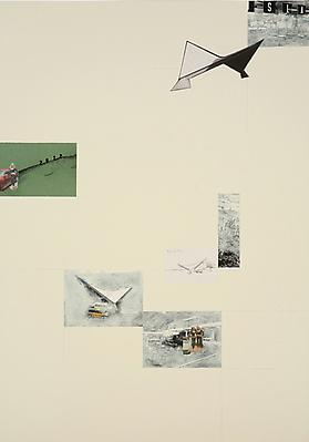 DAVID MALJKOVIC Lost Pavilions, 2006-2008 collage on paper paper: 39 3/8 x 27 1/2 inches (100 x 70 cm) framed: 40 1/2 x 30 inches (102.7 x 76.2 cm) DMa-11