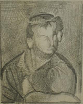 PIETRO ROCCASALVA Senzo titolo, 1997 crayon on paper paper: 3 x 2 3/8 inches (7.6 x 6 cm) framed: 16 3/8 x 12 3/8 inches (41.5 x 31.5 cm) PR-6293