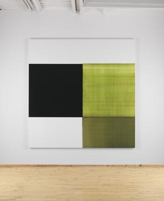 Exposed Painting Green Lake, 2013 oil on linen 92 1/2 x 90 1/2 inches (235 x 230 cm) signed by the artist, verso CI-82.13