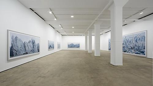Frank Thiel Installation view  Nowhere is a Place  at Sean Kelly, New York  January 31 - March 22, 2014 Photo: Jason Wyche, NY