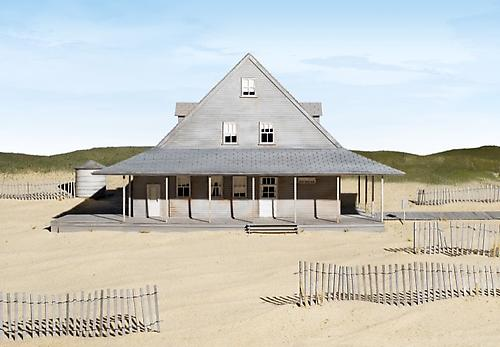 Caffey's Inlet Lifesaving Station (Dare County, NC), 2013 framed fine art pigment print paper: 30 x 43 11/16 inches (76.2 x 111 cm) framed: 32 1/4 x 45 15/16 inches (81.9 x 116.7 cm) edition of 5 with 2 APs signed by artist on label, verso JC-243.S