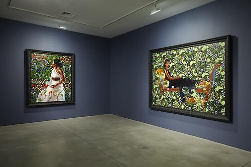 KEHINDE WILEY Installation view of An Economy of Grace at Sean Kelly Gallery, New York May 6 - June 16, 2012 Photo: Jason Wyche, New York