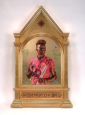 Saint Paul, 2014 22 karat gold leaf and oil on wood panel framed: 40 x 24 x 2 inches (101.6 x 61 x 5.1 cm) signed by the artist, verso KW-PA14-005