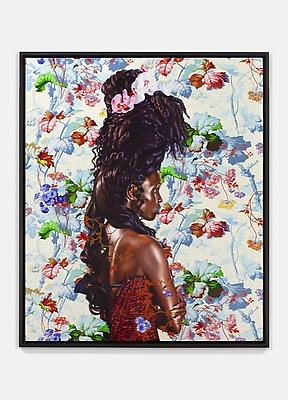 Portrait of Bintou Fall, 2014 oil on linen painting: 72 x 60 inches (182.9 x 152.4 cm) framed: 75 x 63  inches (190.5 x 160 cm) the work is accompanied by a signed certificate of authenticity KW-PA14-036
