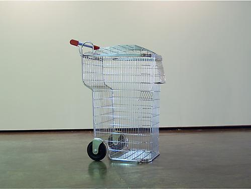 Trash-Shopping Cart, 2008 chrome steel, plastic 45-1/4 x 21-3/4  5/8 x 32 1.4 inches (115 x 54.9 x 81.6 cm) edition of 5 with 2 APs LC-10S004