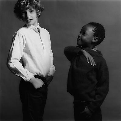 Sebastian and Nda, 1981 gelatin silver print image: 14 x 14 inches (35.6 x 35.6 cm) paper: 20 x 16 inches (50.8 x 40.6 cm) edition of 15 with 3 APs MAP-551 Selected by Nevada participant