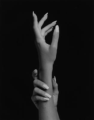 Hands, 1981/ printed 2011 gelatin silver print image: 14 x 11 inches (35.6 x 27.9 cm) paper: 20 x 16 inches (50.8 x 40.6 cm) edition of  10 with 2 APs  MAP-624 Selected by Rhode Island participant