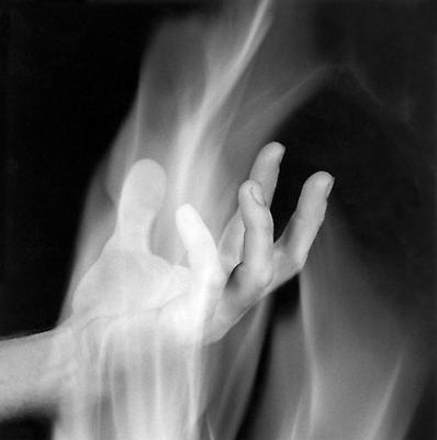 Hand in Fire, 1985 / printed 2006 gelatin silver print image: 10 x 10 inches (25.4 x 25.4 cm) paper: 20 x 16 inches (50.8 x 40.6 cm) edition of 10 with 2 APs  MAP-1577 Selected by Illinois participant