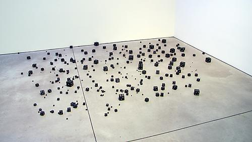 PETER LIVERSIDGE Untitled (Black and White Dice), 2011 Acrylic, poplar wood dimensions variable unique PLi-53