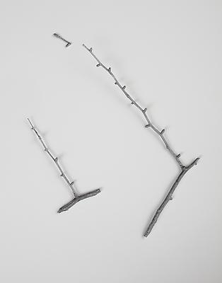 PETER LIVERSIDGE Sticks cast in metal, 2011 recycled aluminum casting of found sticks dimensions variable unique PLi-69
