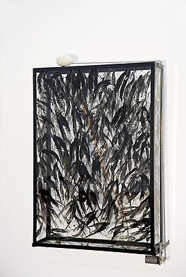 REBECCA HORN The Raven Tree, 2009-2011 copper, steel, coal powder, glass funnels, motors, electronic, controller, synthetic material, gold overall: 196 7/8 x 165 3/8 x 157 1/2 inches (500 x 420 x 400 cm) RH-SC-2034