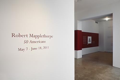 Installation view of Robert Mapplethorpe: 50 Americans at Sean Kelly Gallery, New York May 7 - June 18, 2011 All photographs Jason Wyche