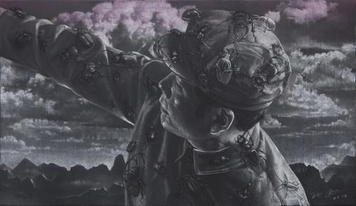 SUN XUN Sometimes Memory Does Lie, 2014 pastel on canvas canvas: 19 11/16 x 39 3/8 inches (50 x 100 cm)  framed: 39 1/2 x 52 3/4 x 4 3/4 inches (100.3 x 134 x 12.1 cm) © Sun Xun Courtesy: Sean Kelly,  New York