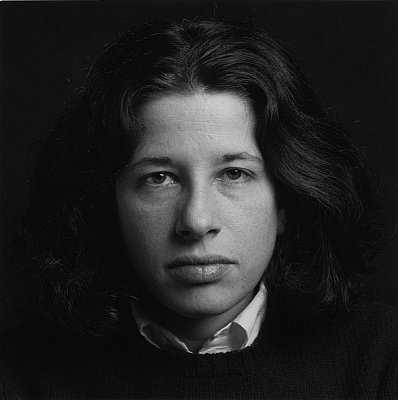Fran Lebowitz, 1980 gelatin silver print paper: 20 x 16 inches  (50.8 x 40.6 cm) image: 14 x 14 inches  (35.6 x 35.6 cm) edition of 15 with 3 APs MAP-423