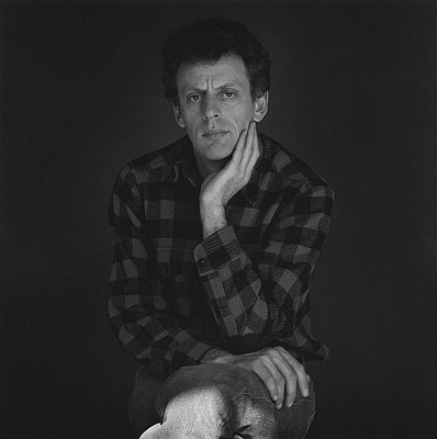 Philip Glass, 1978 gelatin silver print image: 15 1/8 x 15 1/8 inches  (38.4 x 38.4 cm) paper: 20 x 16 inches  (50.8 x 40.6 cm) edition of 10 with 2 APs  MAP-1901