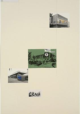 DAVID MALJKOVIC Lost Pavilions, 2006-2008 collage on paper paper: 39 3/8 x 27 1/2 inches (100 x 70 cm) framed: 40 1/2 x 30 inches (102.7 x 76.2 cm) DMa-14