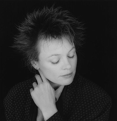Laurie Anderson, 1987 gelatin silver print image: 19 x 19 1/4 inches  (48.3 x 49 cm) paper: 24 x 20 inches  (61 x 51 cm) edition of 10 with 2 APs MAP-1815