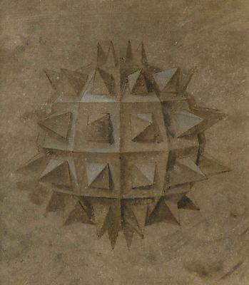 LAURENT GRASSO Studies into the past - Sphère, 2010 ink and watercolor on paper paper: 9 3/4 x 8 3/4 inches (24.8 x 22.2 cm) framed: 18 1/4 x 17 1/4 inches (46.4 x 43.8 cm) LG-37