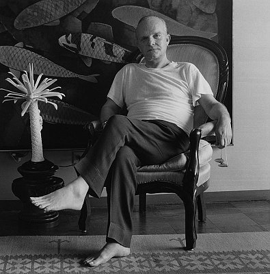 Truman Capote, 1981 gelatin silver print image: 15 1/4 x 15 1/4 inches  (38.7 x 38.7 cm) paper: 20 x 16 inches  (51x 41 cm) edition of 10 with 2 APs MAP-1099