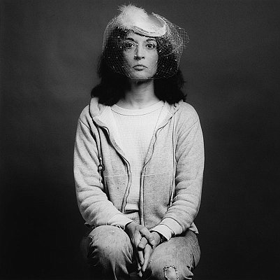 Marisol, 1979 gelatin silver print image: 13 3/4 x 13 3/4 inches  (34.9 x 34.9 cm) paper: 20 x 16 inches  (51x 41 cm) edition of 10 with 2 APs MAP-327