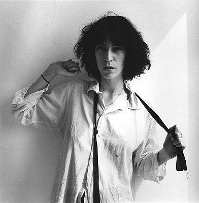 Patti Smith, 1975 gelatin silver print image: 14 x 14 inches  (36 x 36 cm) paper: 20 x 16 inches  (51 x 41 cm) edition of 10 with 2 APs MAP-1916