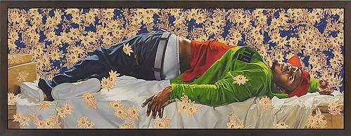 Femme Piquee Par Un Serpent, 2008 oil on canvas 102 x 300 inches (259.08 x 762 cm) KW-PA08-006