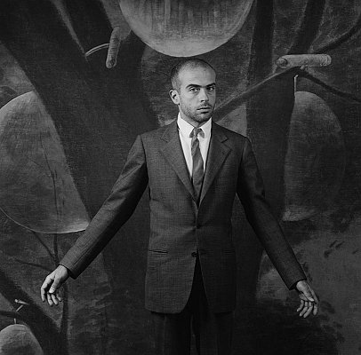 Francesco Clemente, 1985 gelatin silver print image: 15 3/16 x 15 3/16 inches  (38.6 x 38.6 cm) paper: 20 x 16 inches  (51x 41 cm) edition of 10 with 2 APs MAP-1492