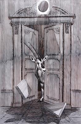 DANIEL ARSHAM Ibek, 2010 gouache on mylar paper: 61 x 40 1/2 inches (154.9 x 102.9 cm) DArs-1