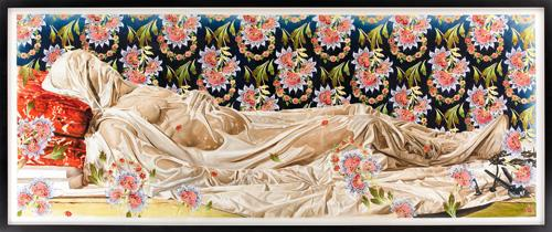 The Veiled Christ (study), 2008. Oil wash on paper, 56 11/16 x 145 1/4 inches. Collection of the Metropolitan Museum of Art, Francis Lathrop Fund, 2008, 2009.14.