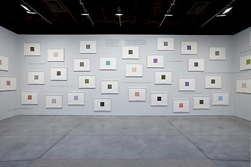 Installation view of  callum innes | colm tóibín water | colour at Sean Kelly Gallery, New York