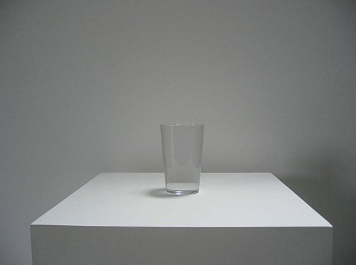 IRAN do ESPIRITO SANTO Water Glass, 2006/07 solid pure crystal 4 3/4 x 3 1/8 x 3 1/8 inches  (12 x 8 x 8 cm) edition of 25 with 3 APs IdES-201