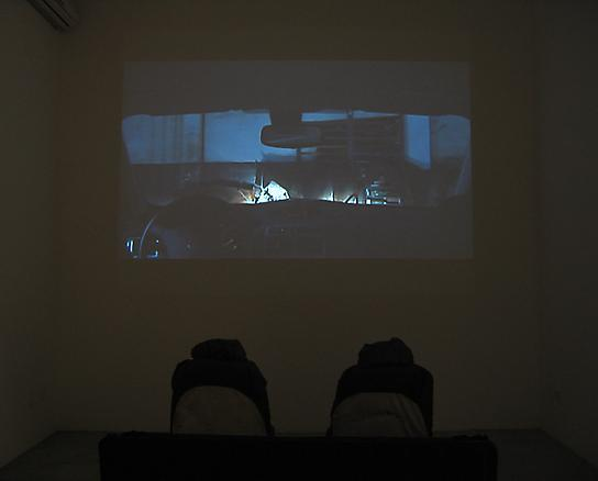 Drive in 2005 video installation at Novembro Arte Contemporanea Gallery