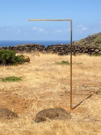 5 orizzonti con pietre, 2013 bronze, stones site specific permanent installation variable dimensions