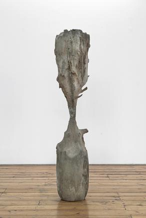 Clessidra (Hourglass) 2007 - 2015 wood and caranto clay 146.5 x 32 x 32 cm